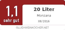 Testsiegel: 20 Liter Monzana