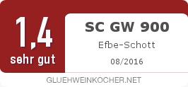 Testsiegel: SC GW 900 Efbe-Schott